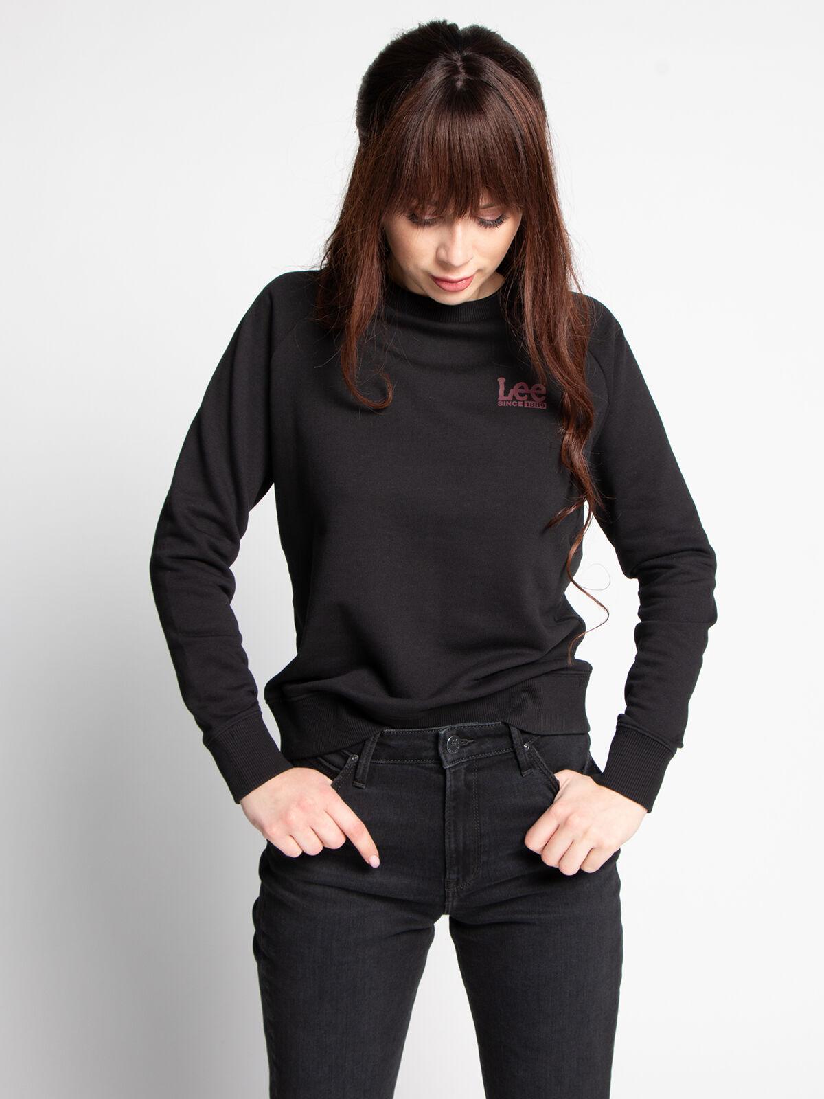 lee sweatshirt in schwarz für damem