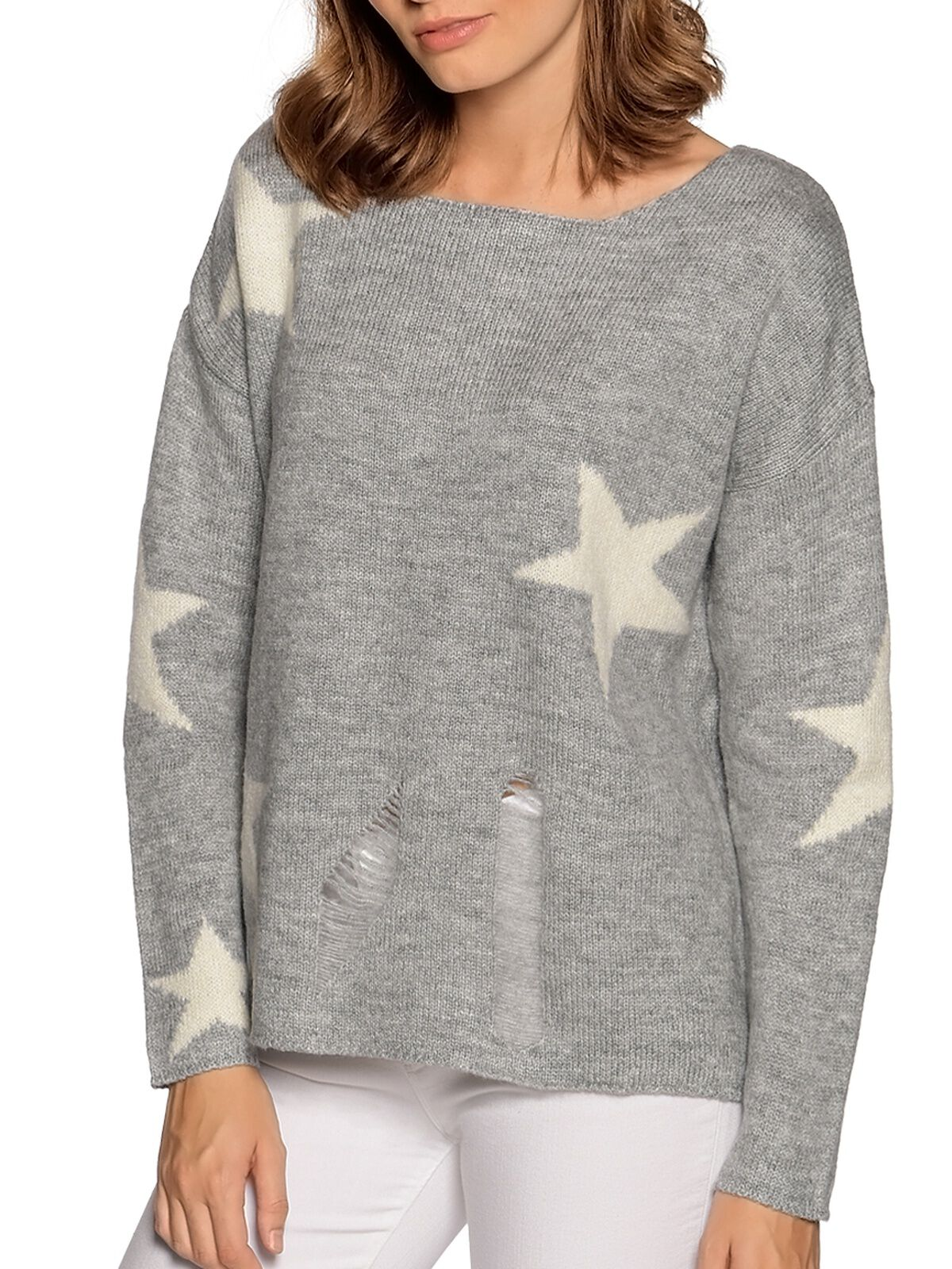 Replay Sweatshirt mit Destroyed Parts anthrazit   Dress for less