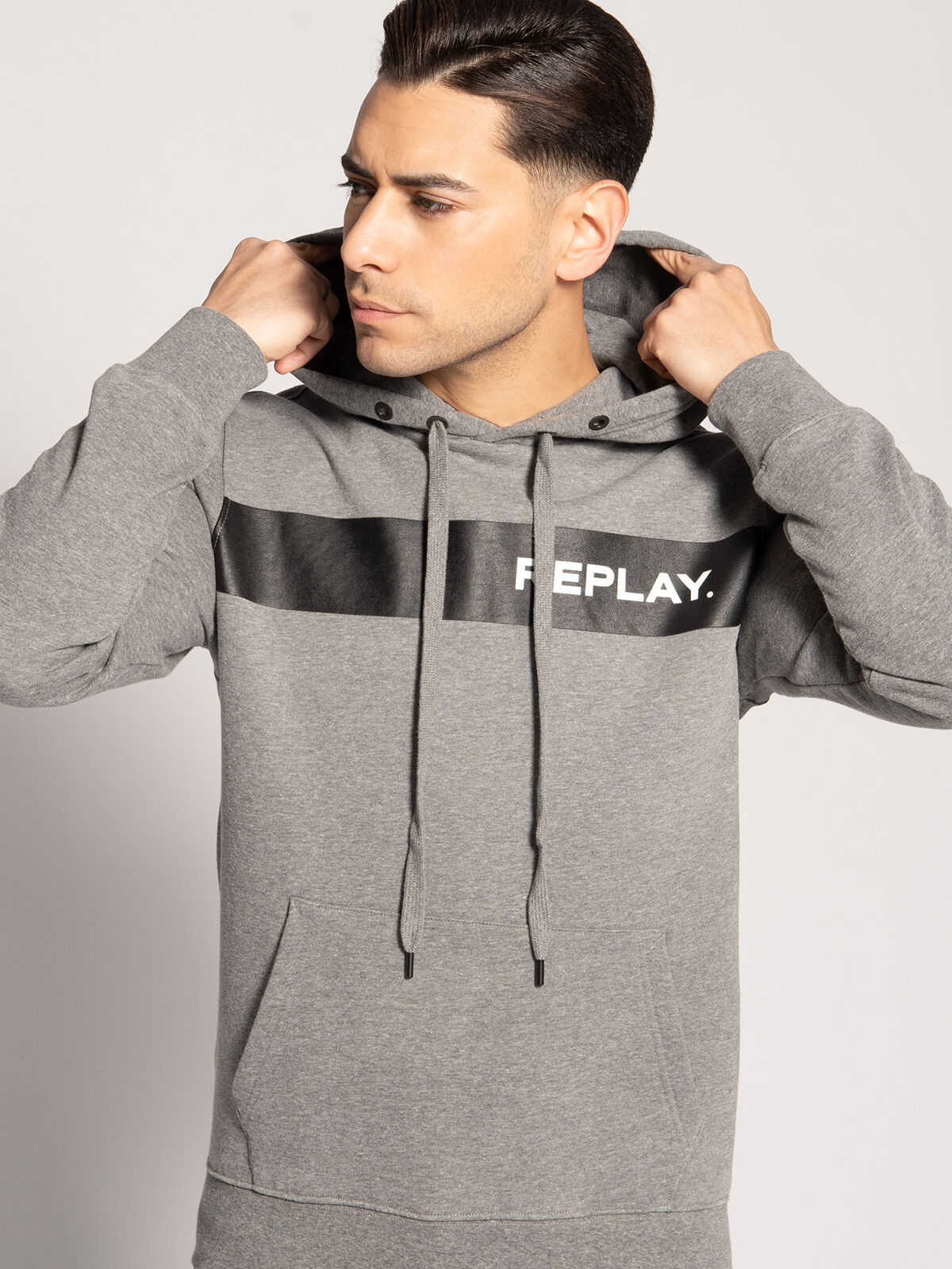 Replay Sweatshirt Stripe Block schwarz | Dress for less