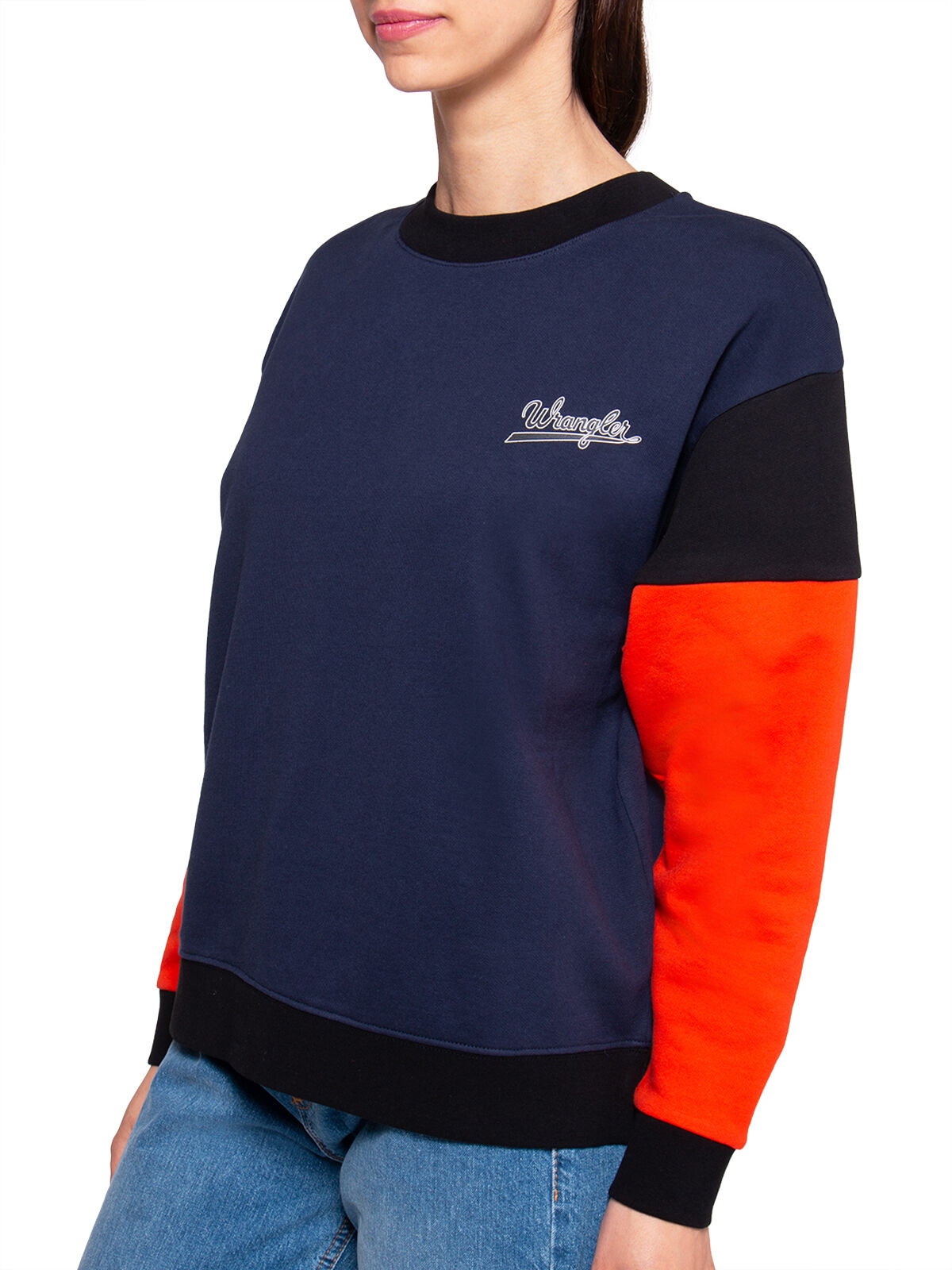 Wrangler Sweatshirts navyschwarzorange | Dress for less