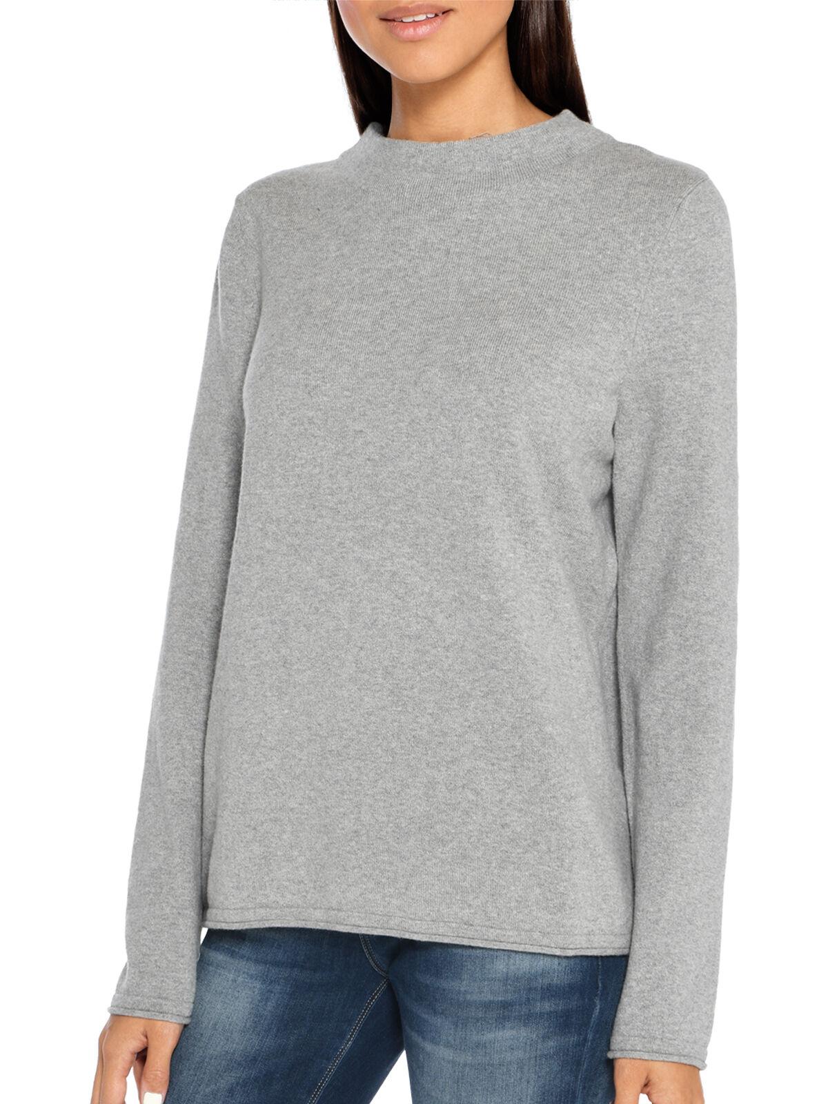 Marc O´Polo Sweatshirt 2 in 1 Look grau meliertweiß   dress