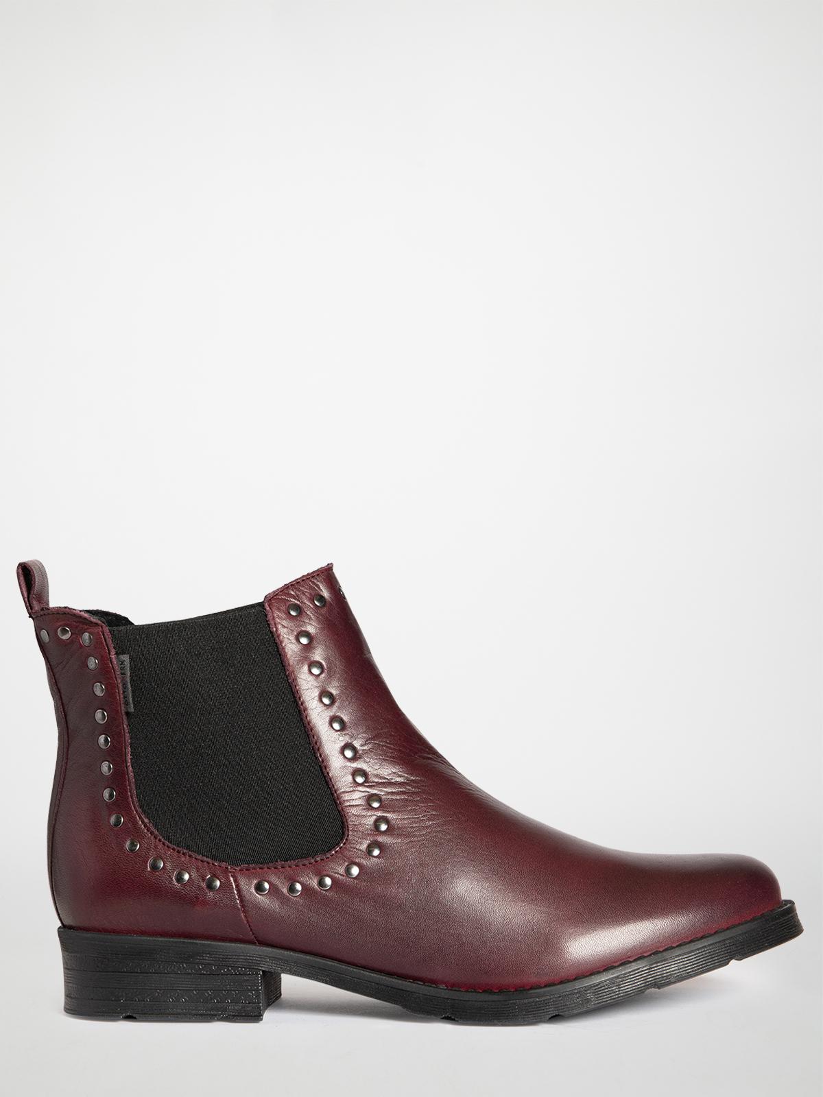 Otto Kern Chelsea boots in rood voor Dames