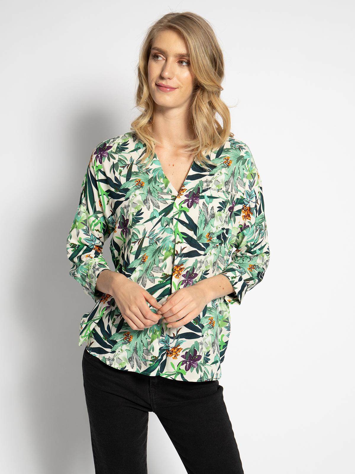 Mavi Blusenshirt in grün für Damen, Größe: XL