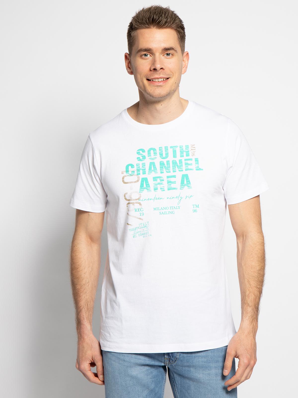 Milano T-Shirt in weiss für Herren, Größe: XL