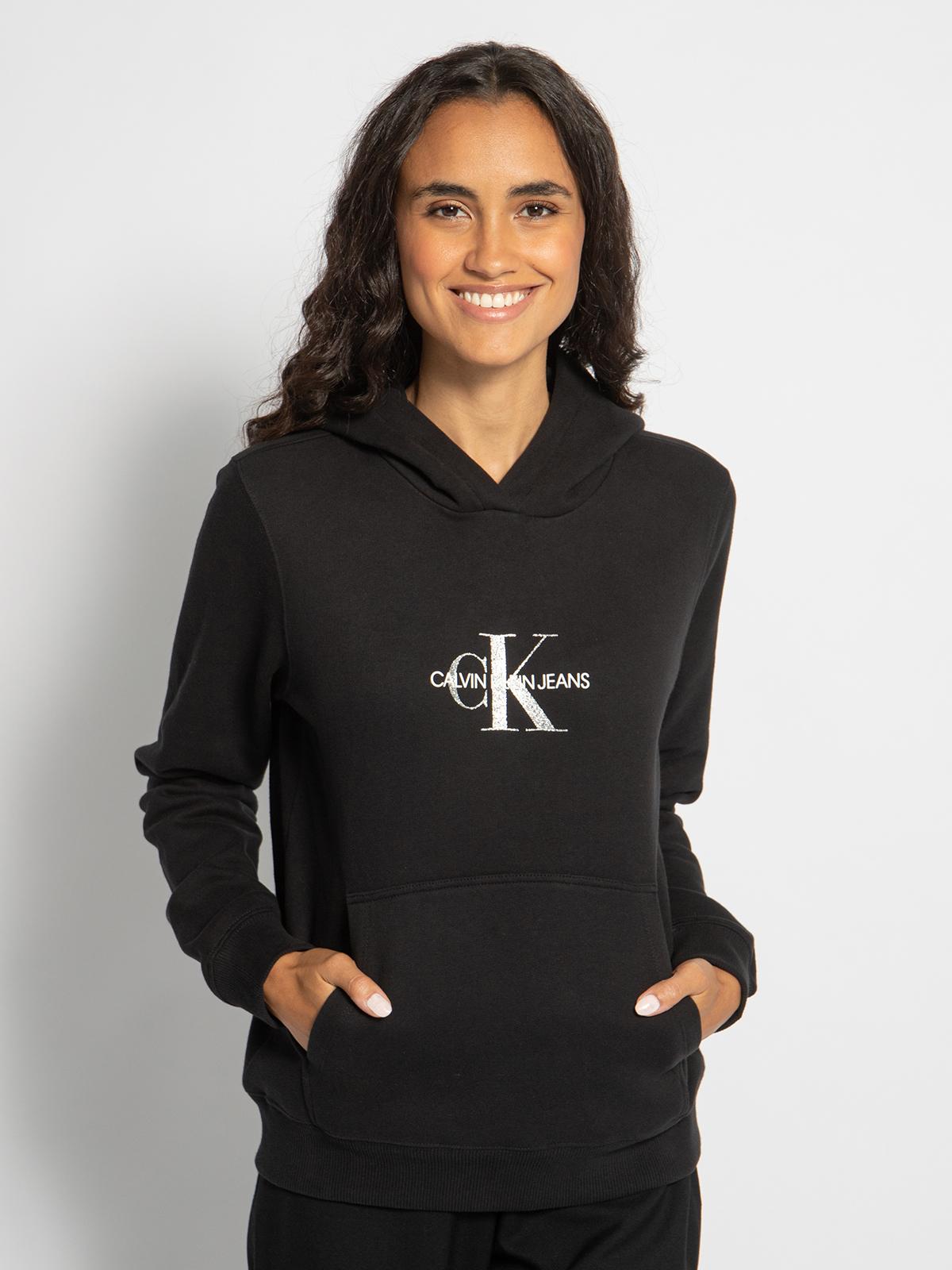 Calvin Klein Hoodie in schwarz für Damen, Größe: M