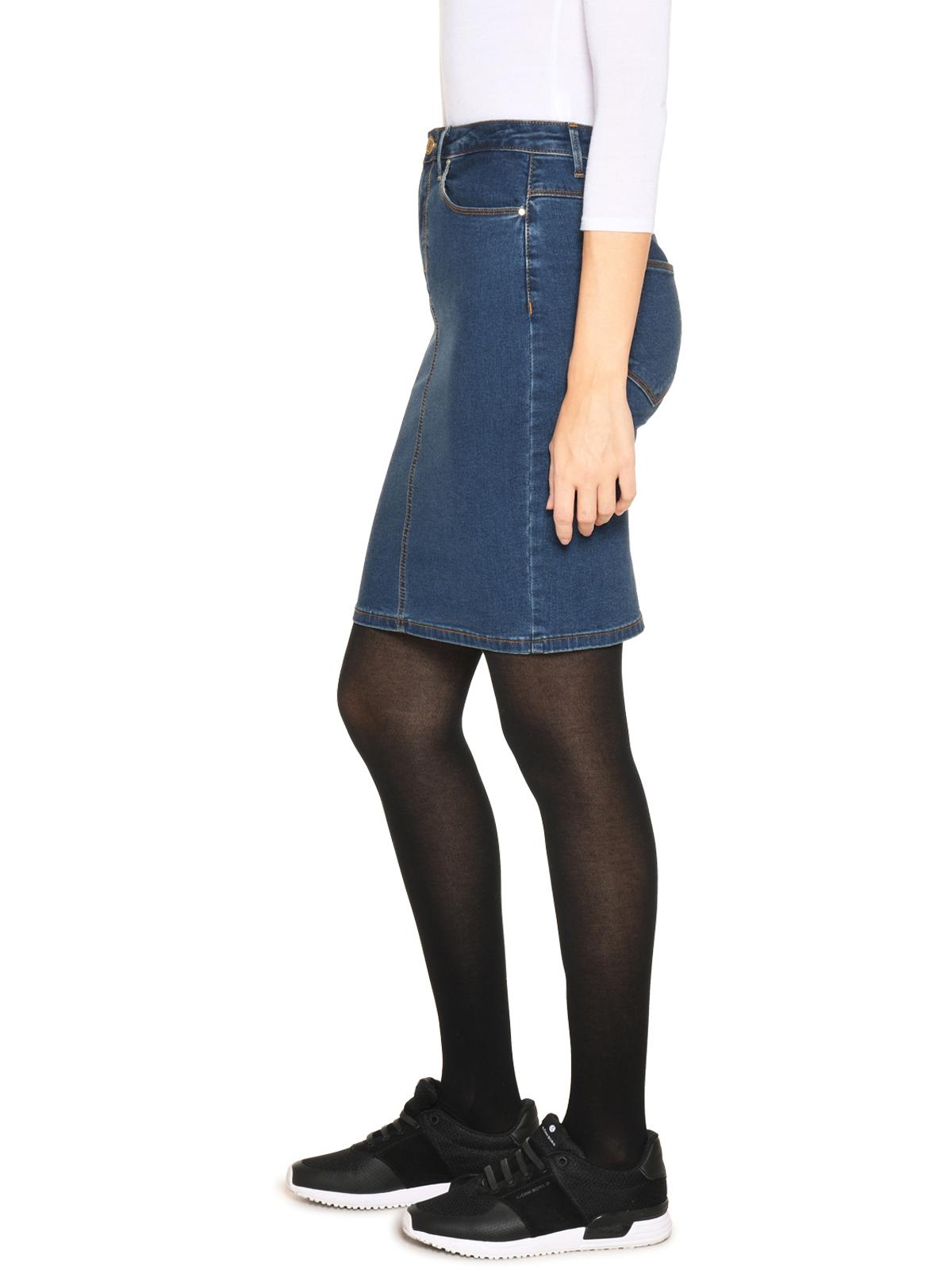 Vila Spijkerrok in blauw voor Dames
