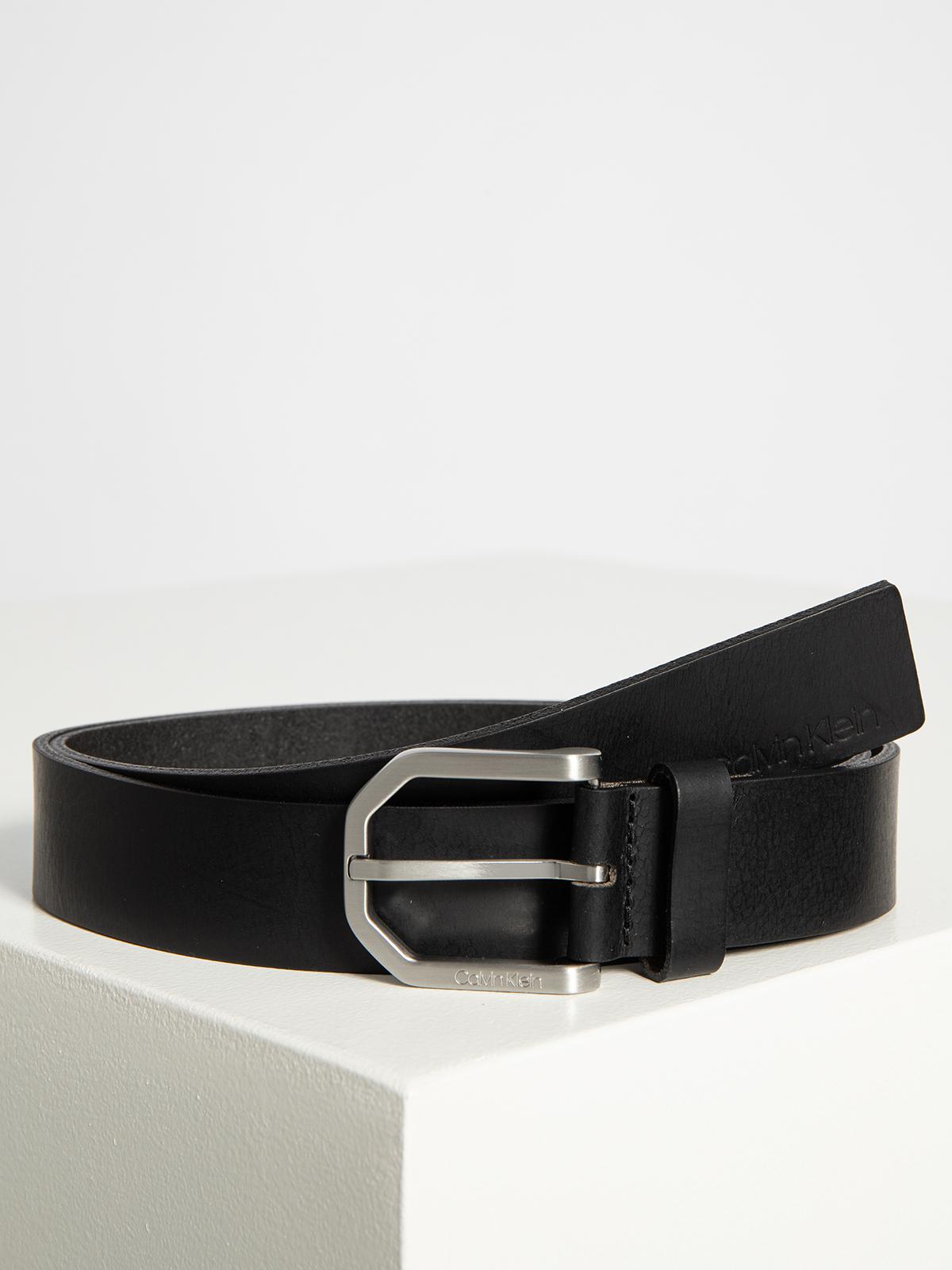 Calvin Klein Ledergürtel in schwarz für Herren, Größe: 100. Essential Plus Facted