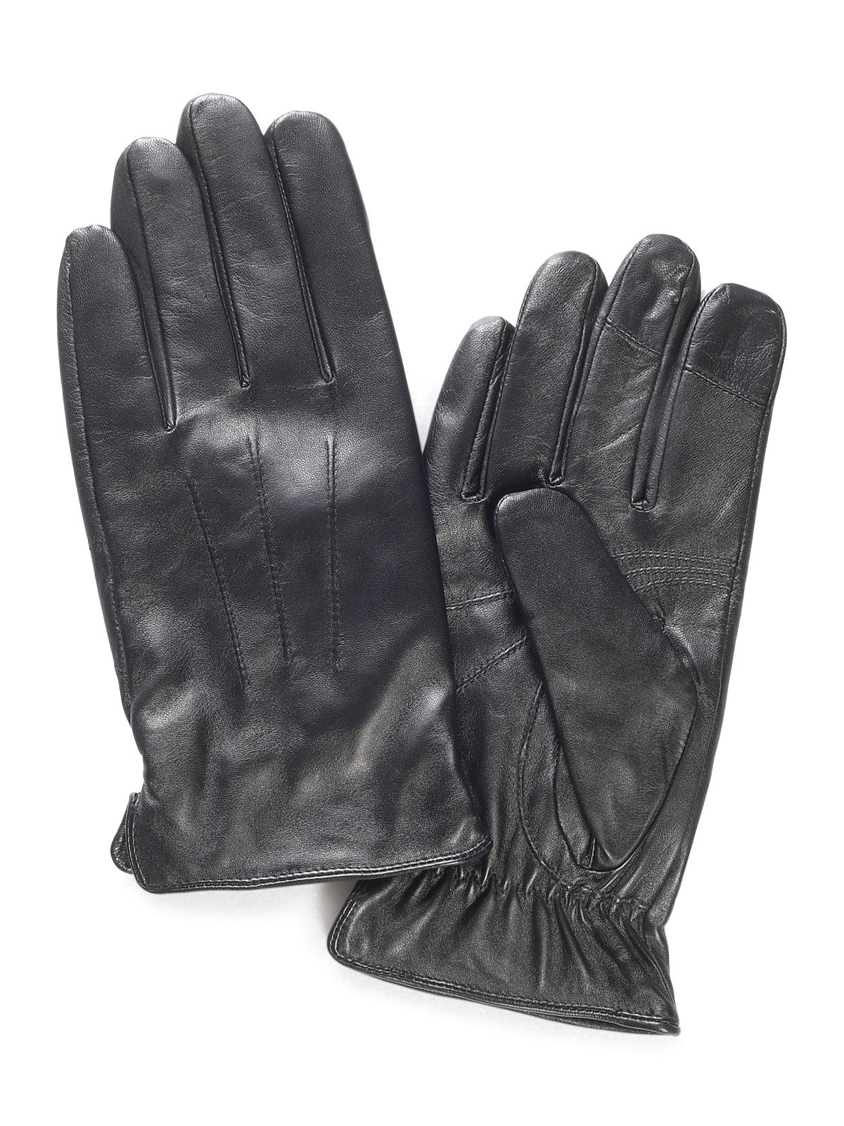 Mishumo Leren handschoenen in zwart voor Heren