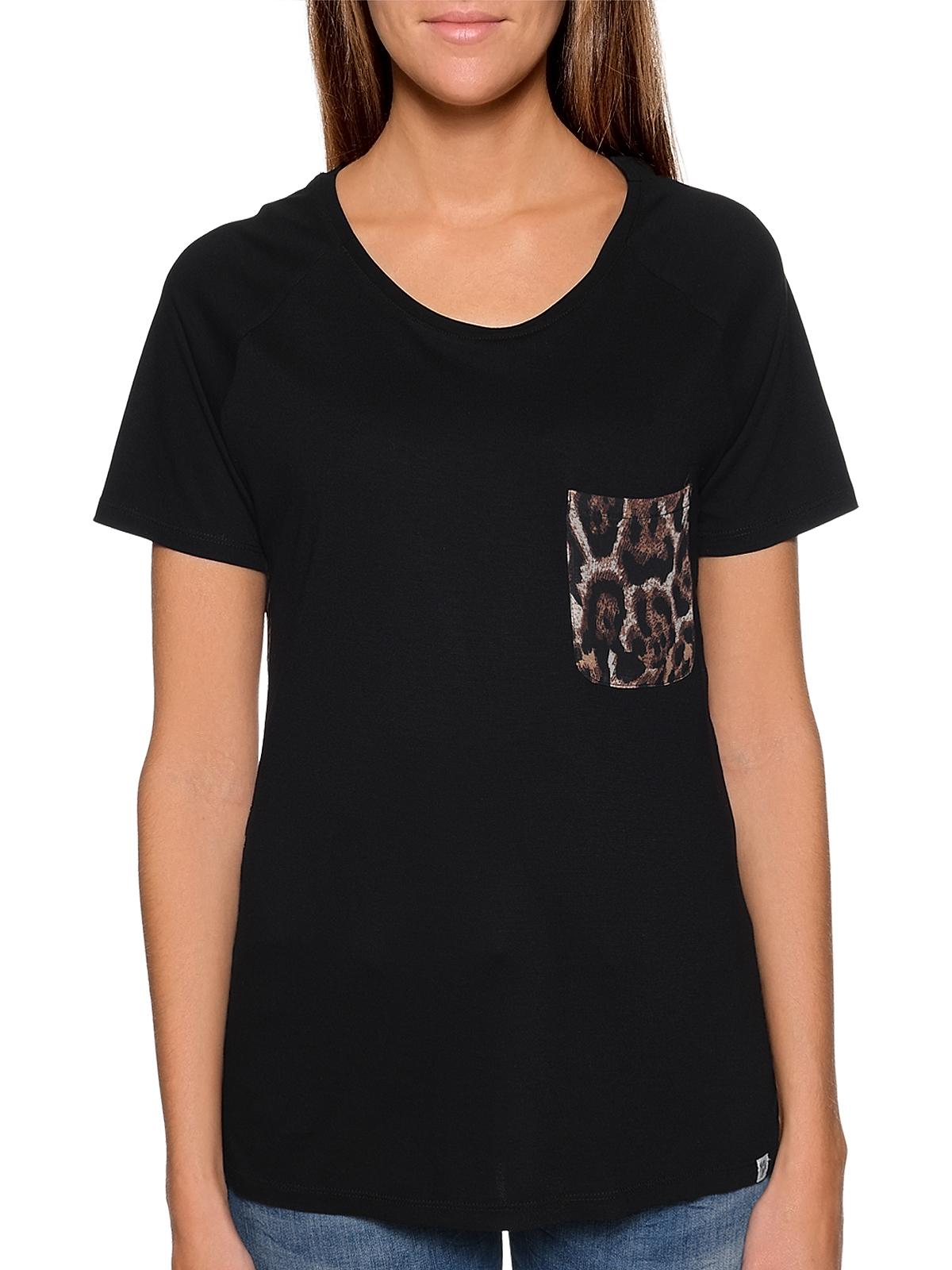 O/'Neill T-Shirt Oberteil Sportshirt Star schwarz Muster Rundhals
