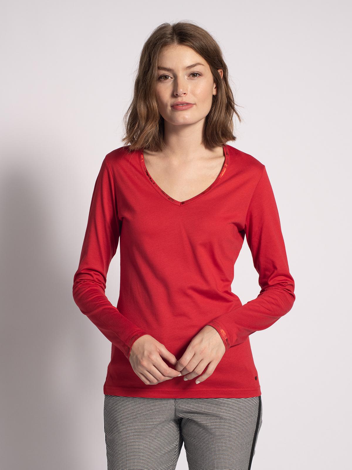 Malvin Longsleeve in rot für Damen, Größe: XL