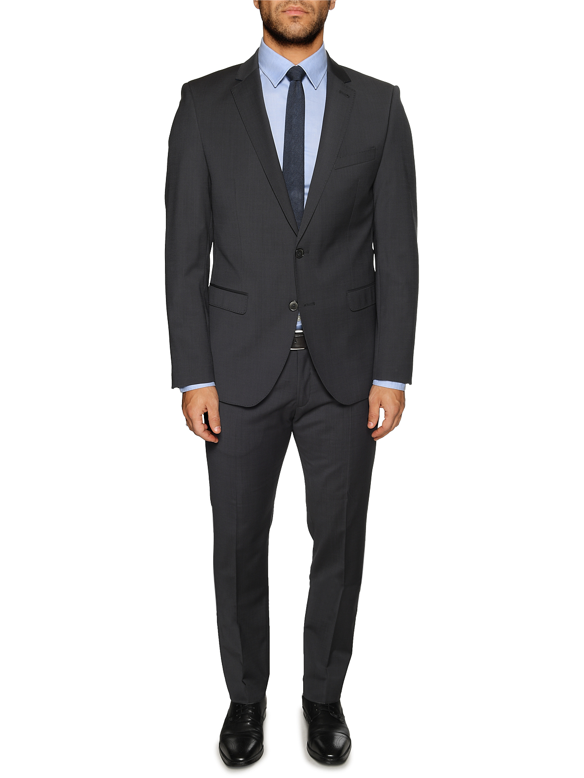 Bugatti Anzug Modern Fit in grau für Herren, Größe: 98