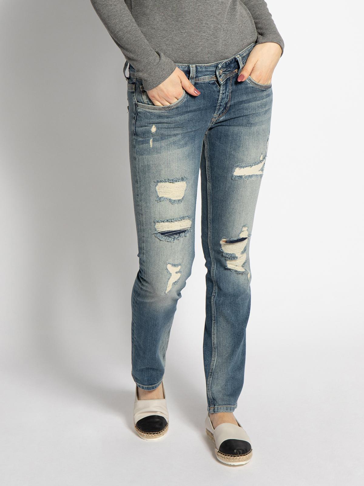Pepe Jeans Saturn Jeans in blau für Damen, Größe: 30-30