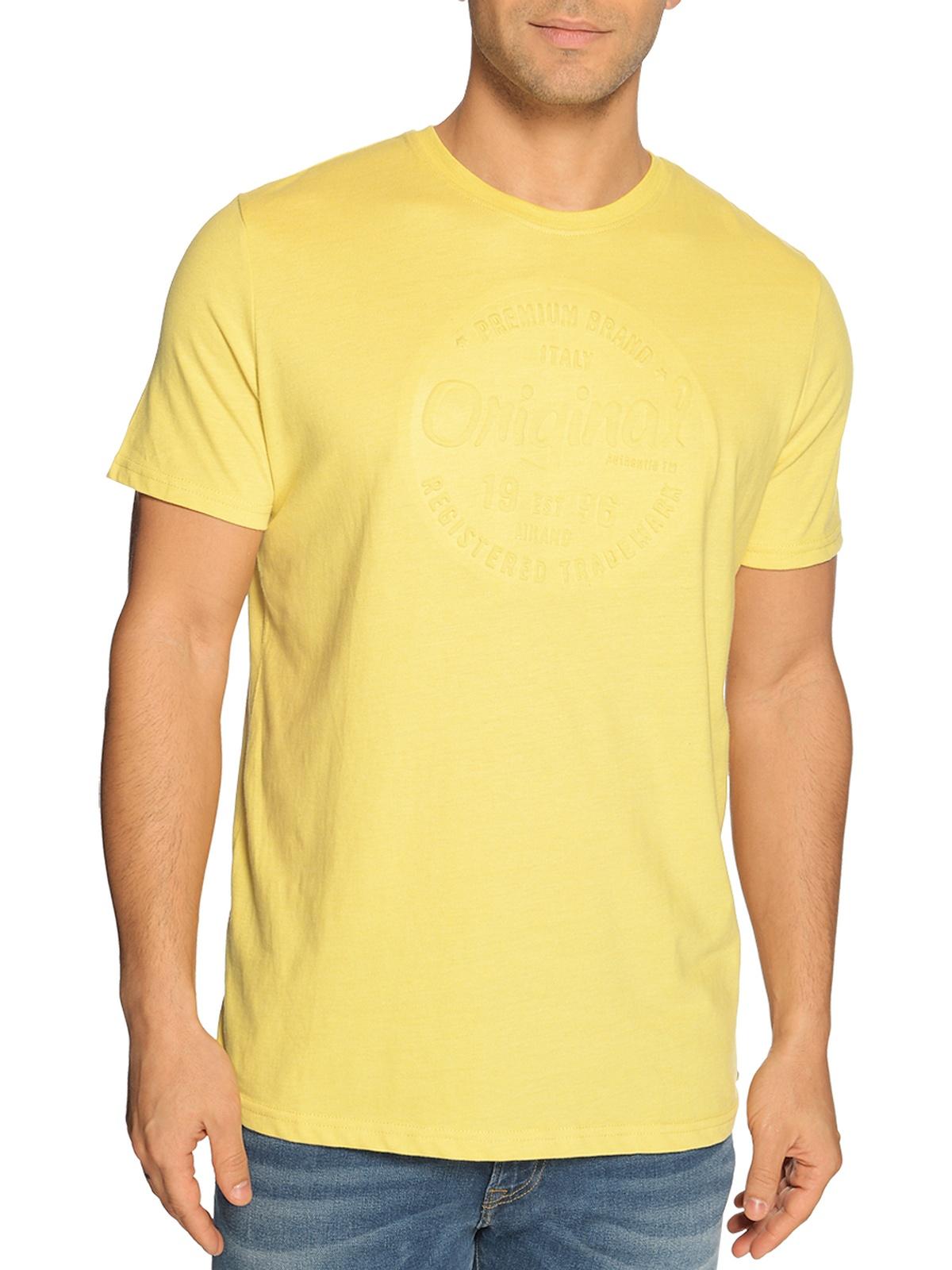 Milano T-Shirt in gelb für Herren, Größe: S