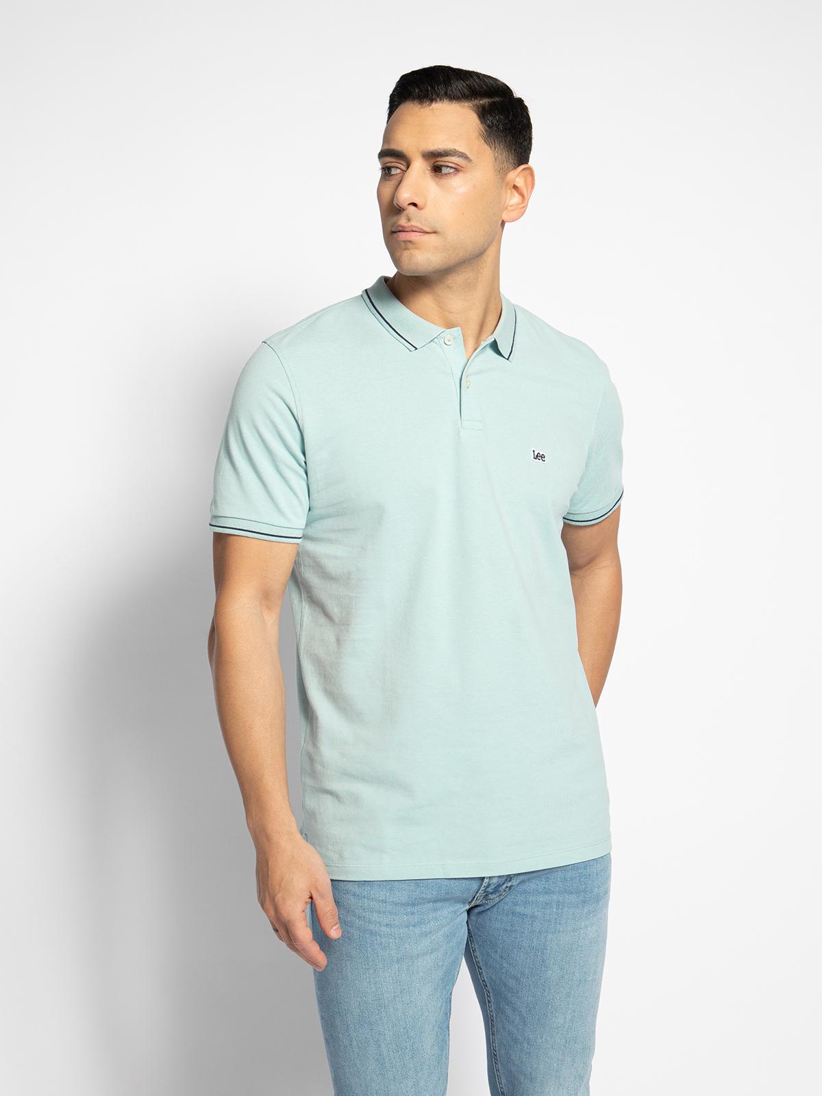 Lee Poloshirt in blau für Herren, Größe: M