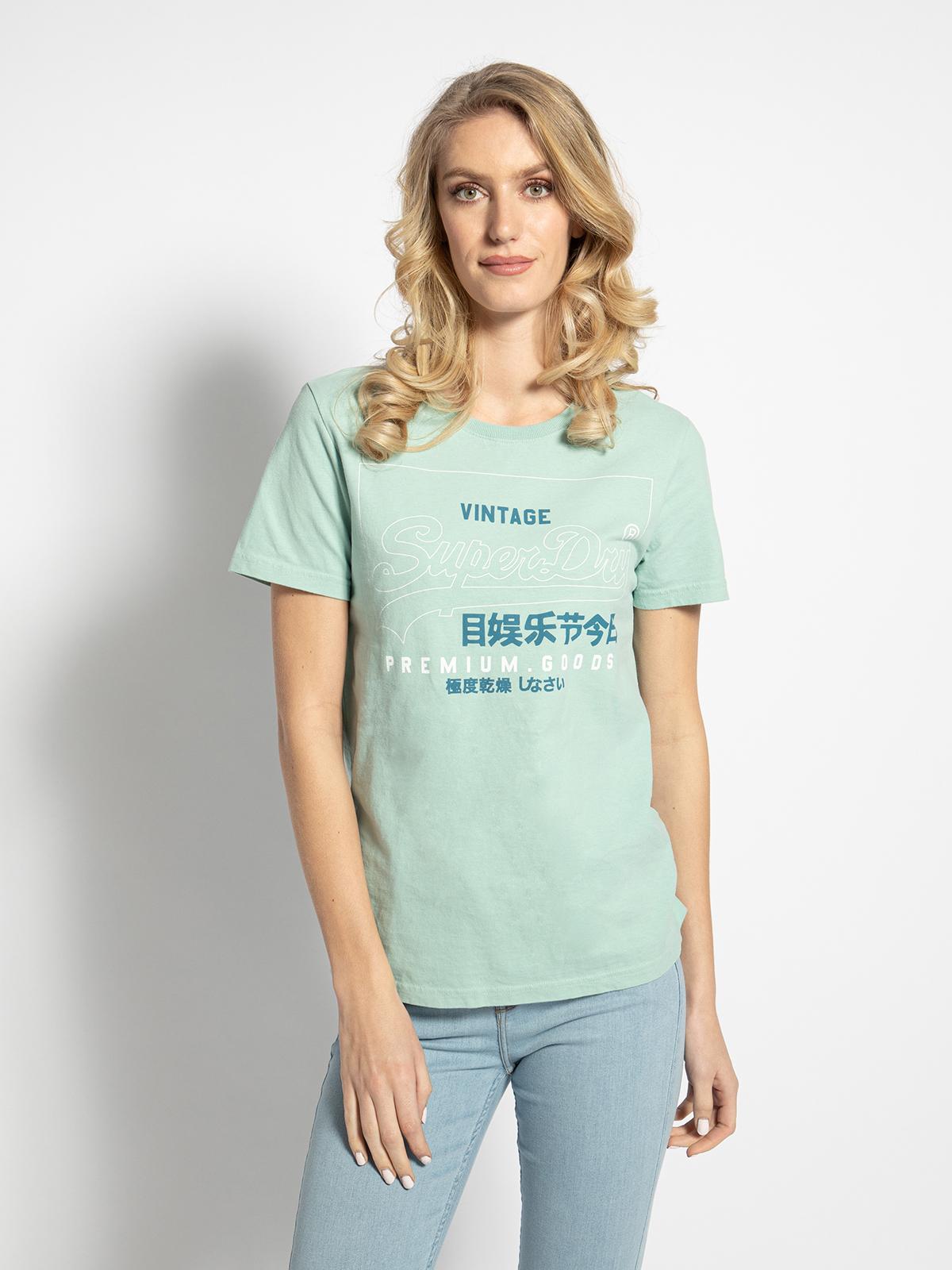 Superdry T-Shirt in grün für Damen, Größe: L