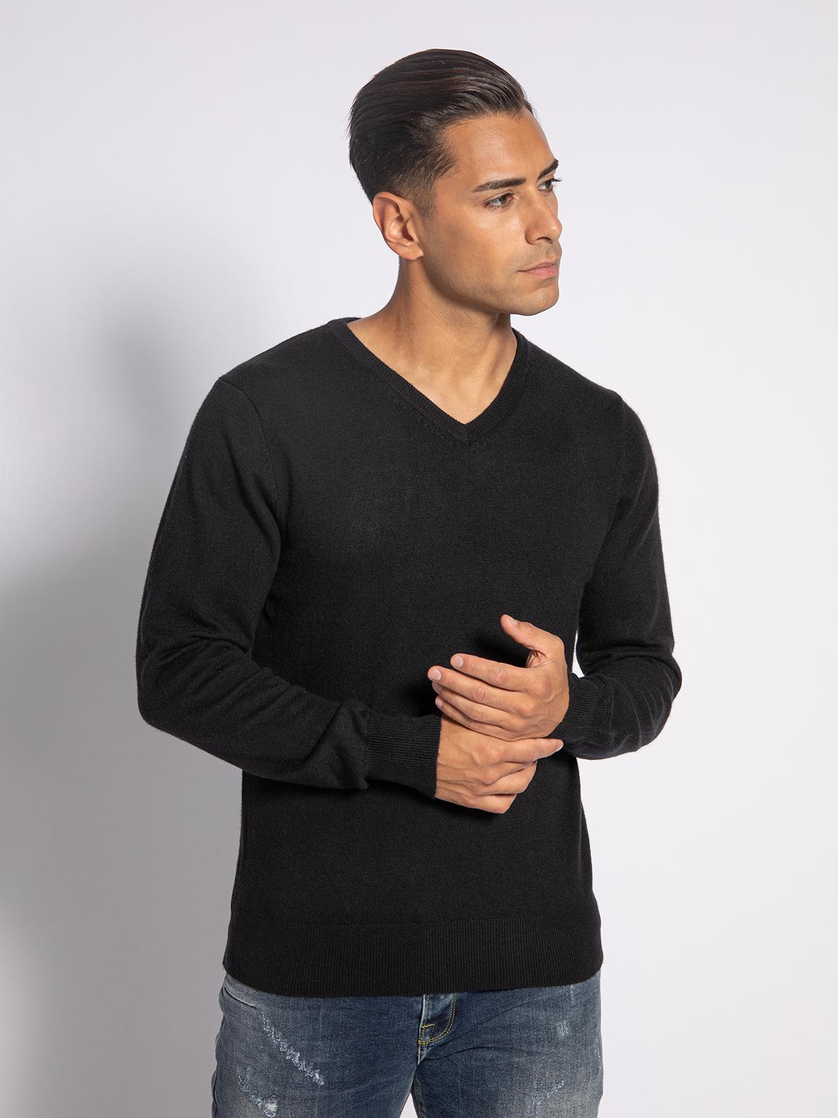 Mishumo Pullover in schwarz für Herren, Größe: L