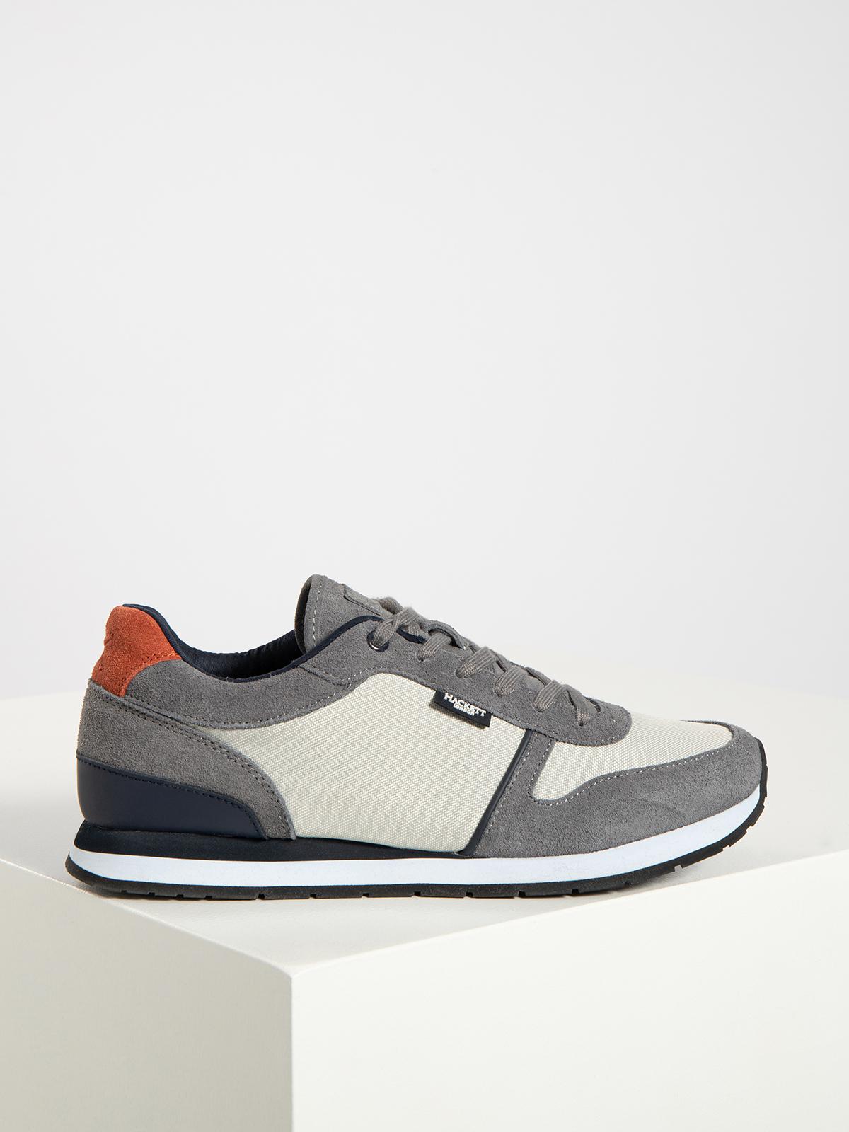 Hackett London Sneaker in grau für Herren, Größe: 41. York Eyelet Trainer
