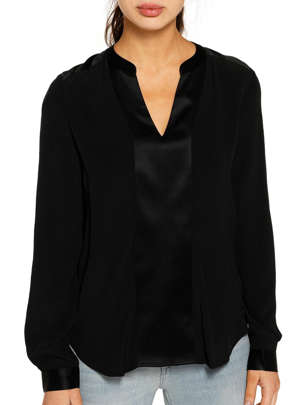 Tommy Hilfiger Blusenshirt in schwarz für Damen, Größe: 32