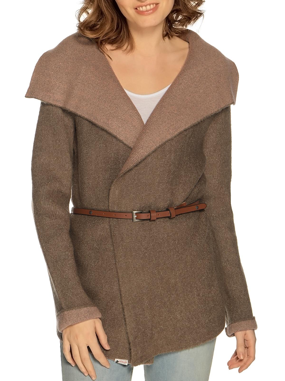 Khujo Strickjacke in braun für Damen, Größe: XL