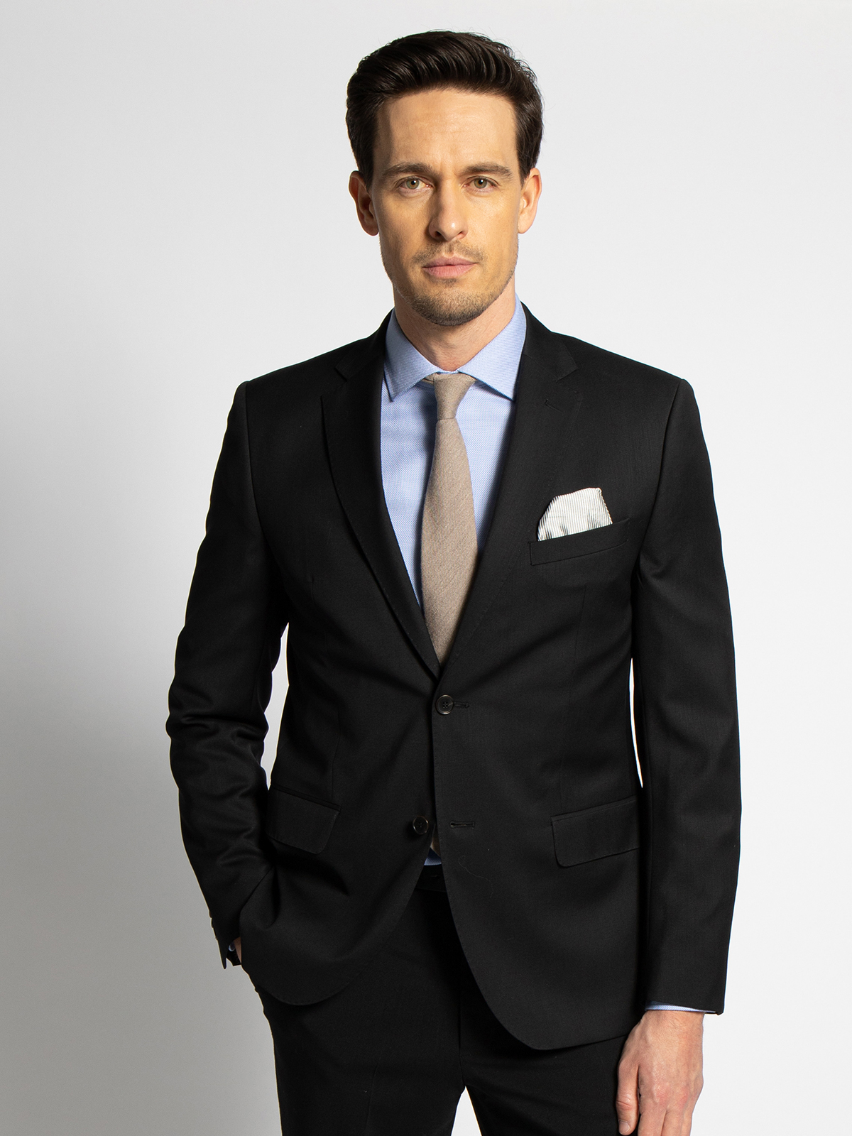 Milano Baukasten-Sakko Regular Fit in schwarz für Herren, Größe: 94
