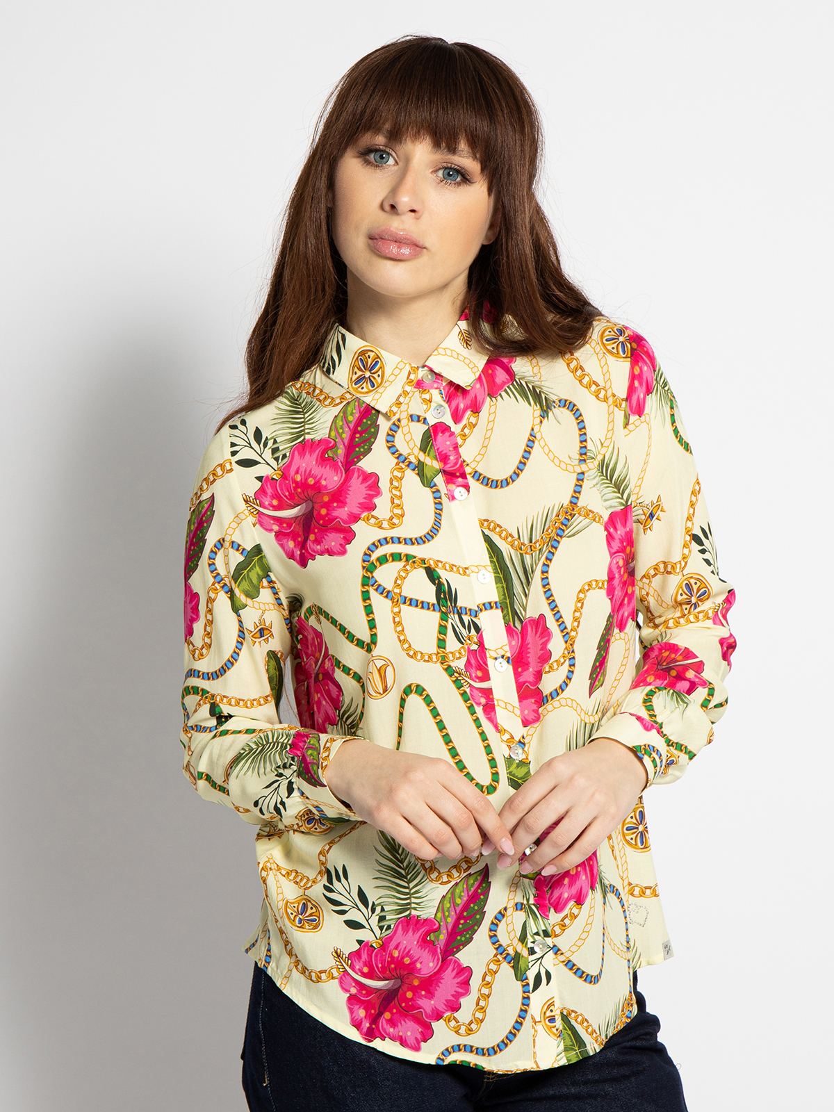 Key Largo Bluse in gelb für Damen, Größe: S