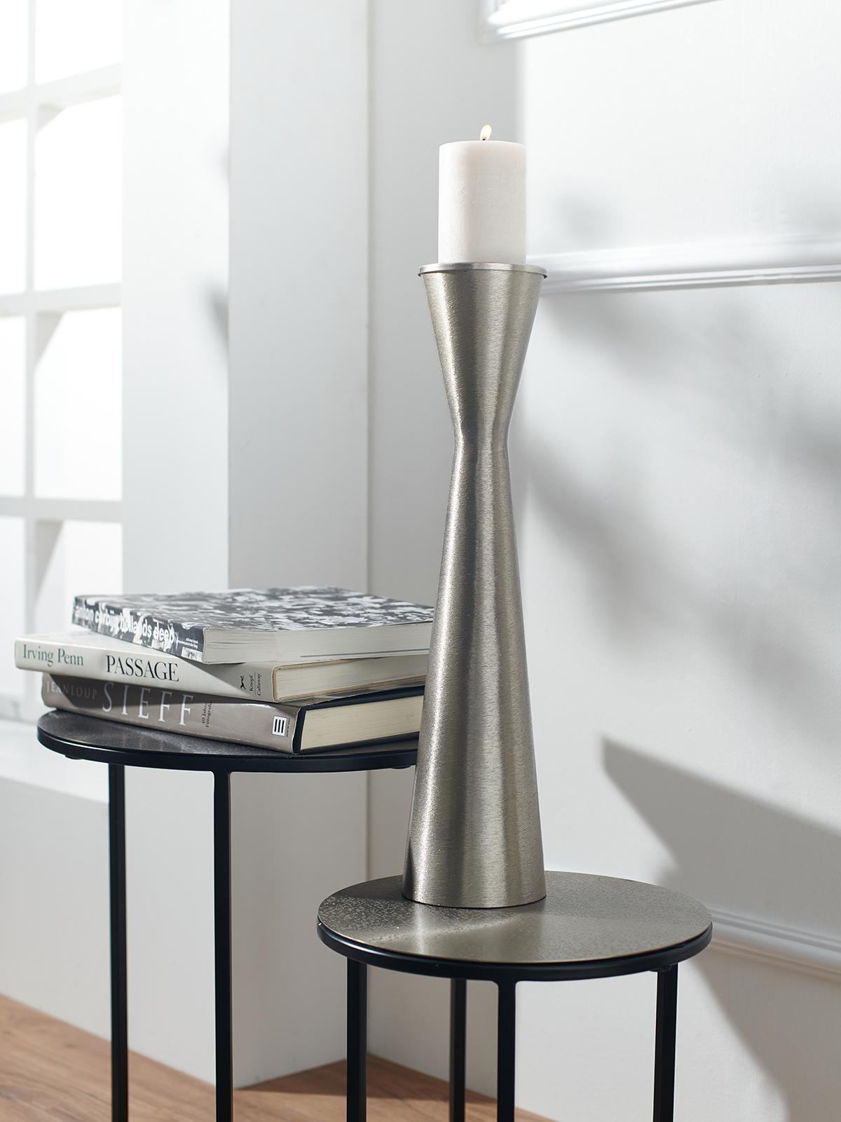 Lambert Kerzenhalter in silber für Unisex, Größe: