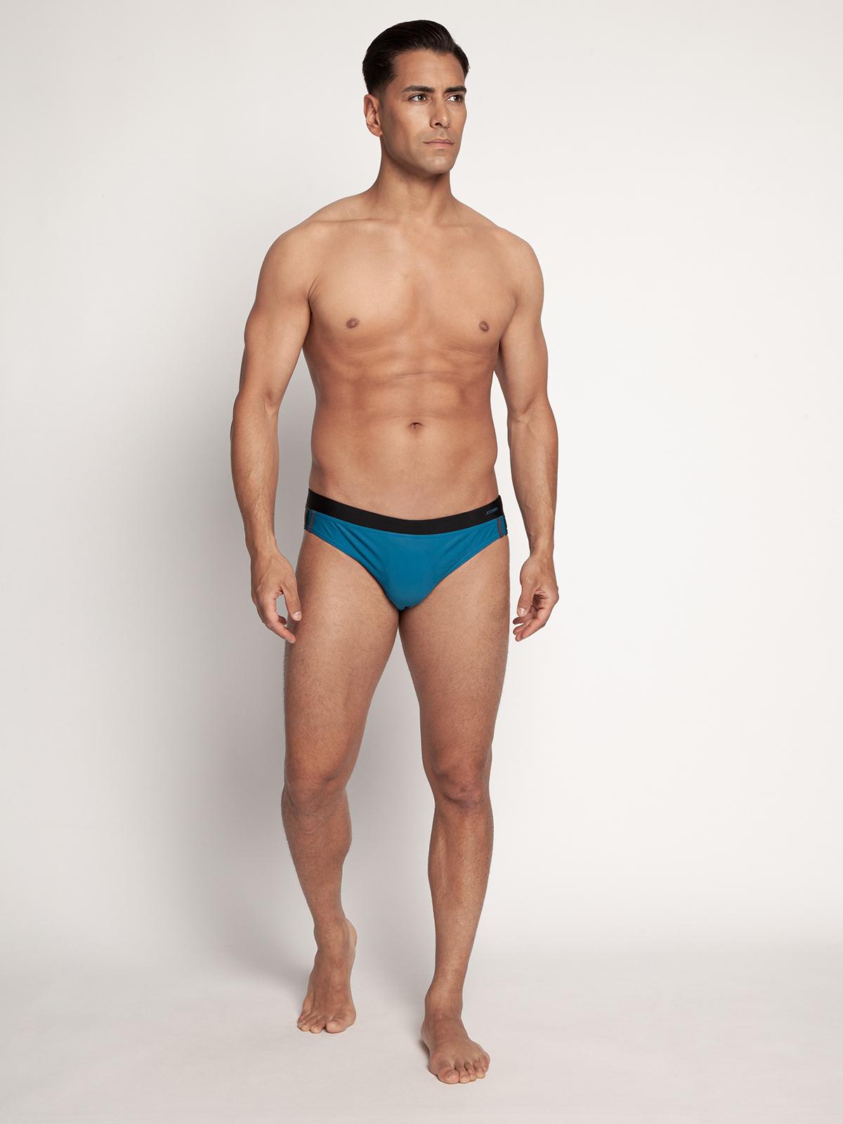 Jockey Zwembroek in blauw voor Heren