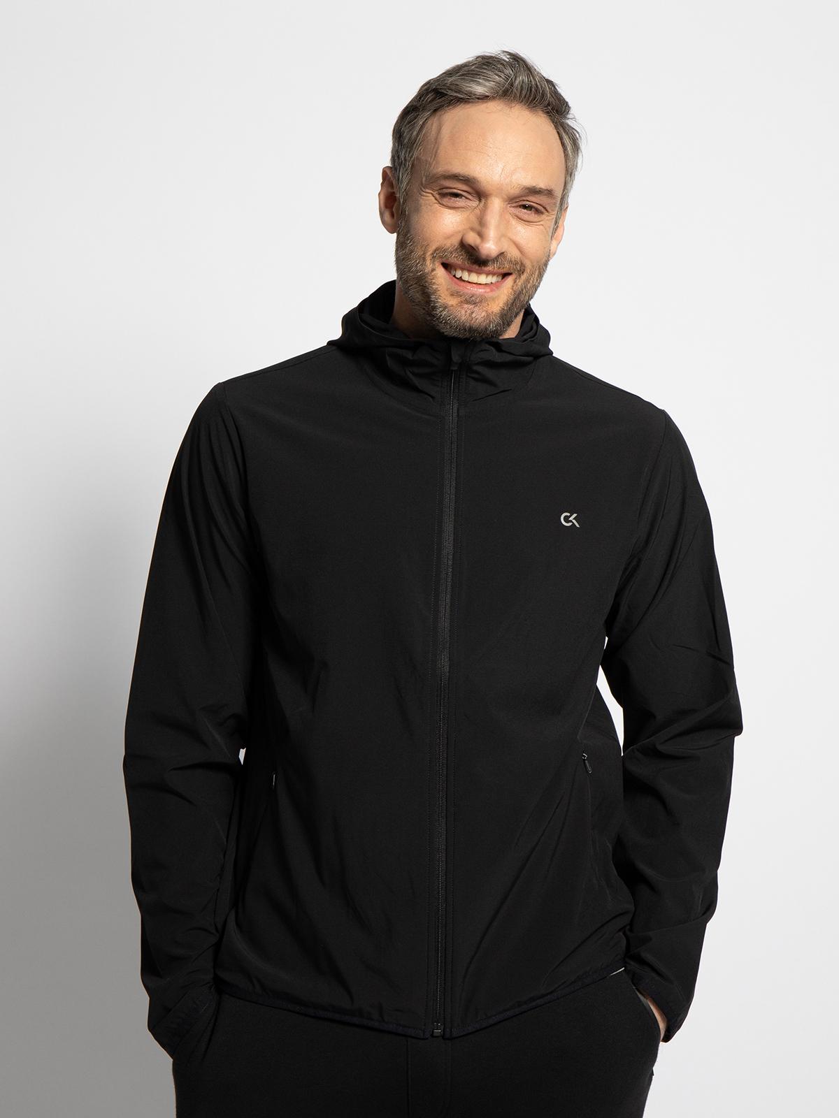 Calvin Klein Sportjacke in schwarz für Herren, Größe: M