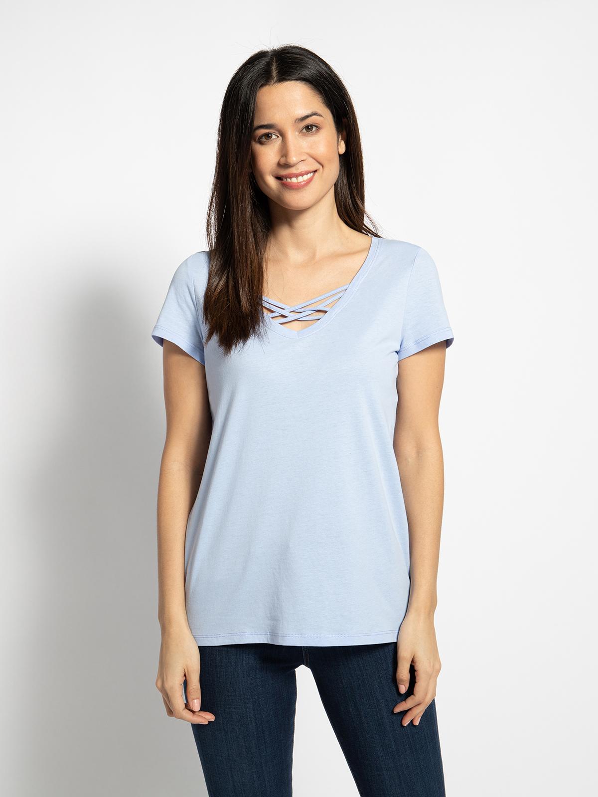 Tom Tailor T-Shirt in blau für Damen, Größe: M