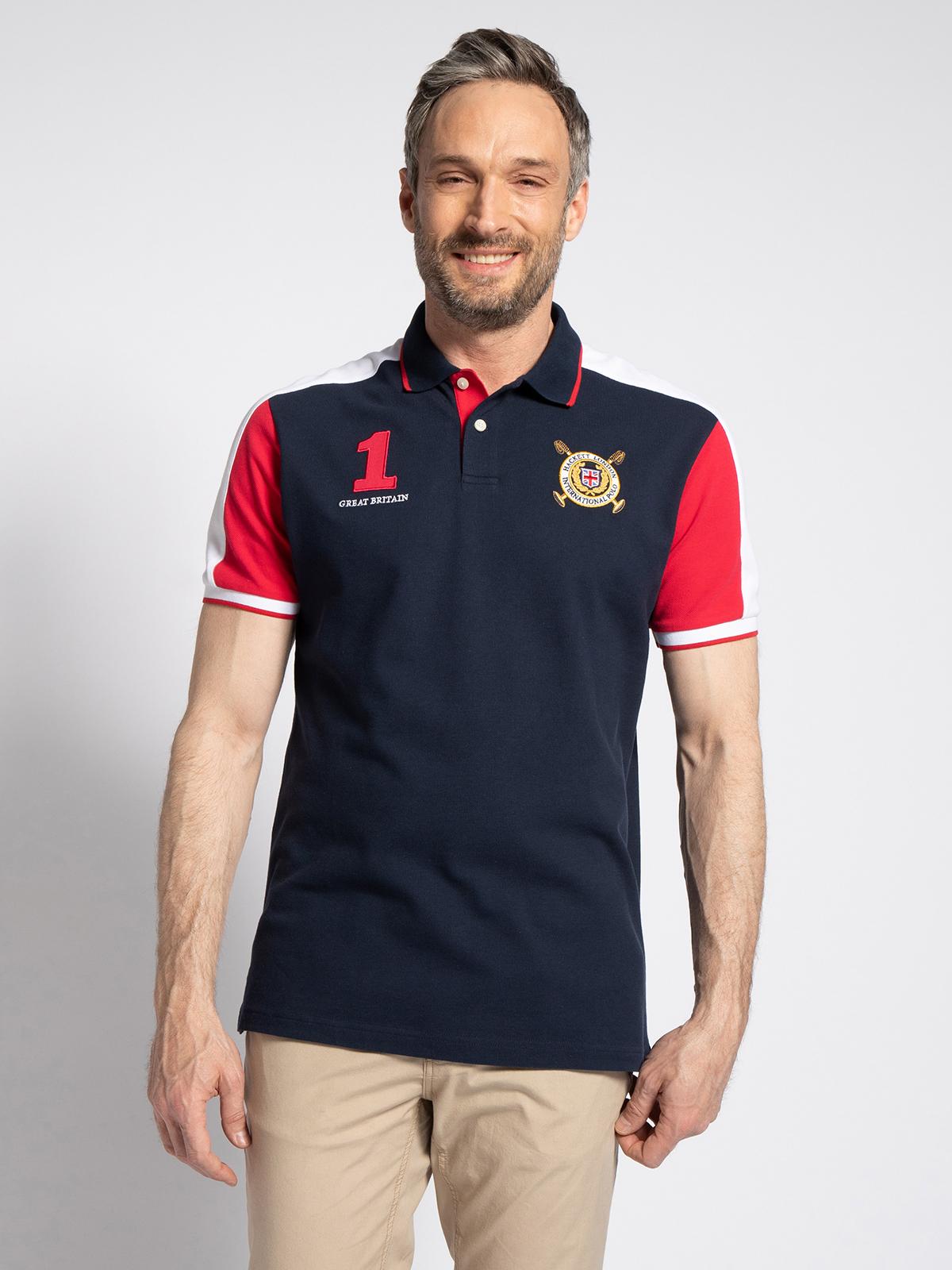Hackett London Poloshirt in blau für Herren, Größe: S