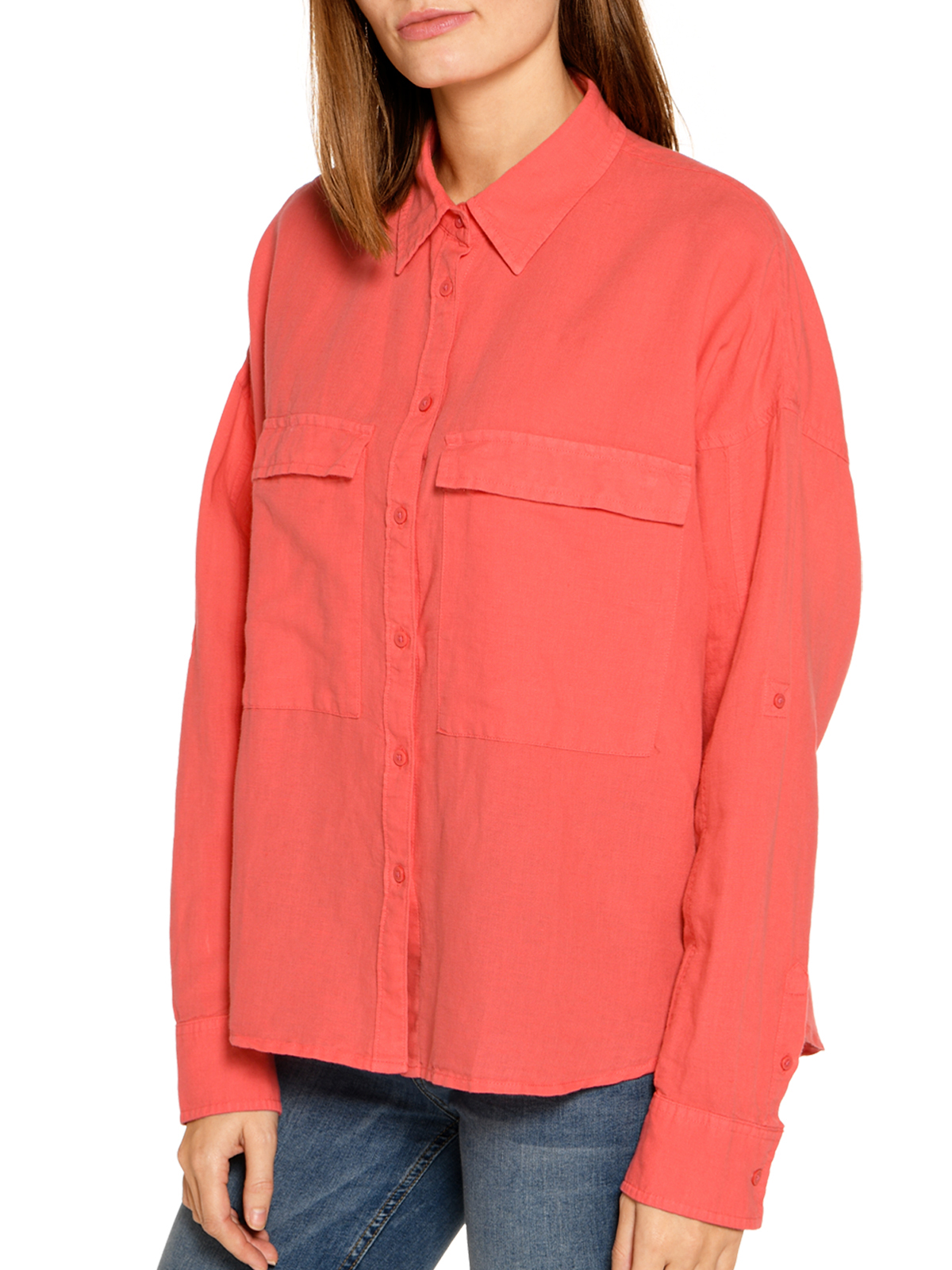 Wrangler Blouse in oranje voor Dames
