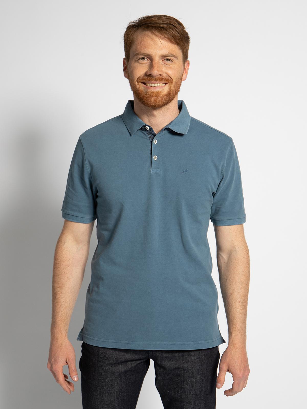 Daniel Hechter Poloshirt in blau für Herren, Größe: M. 74013