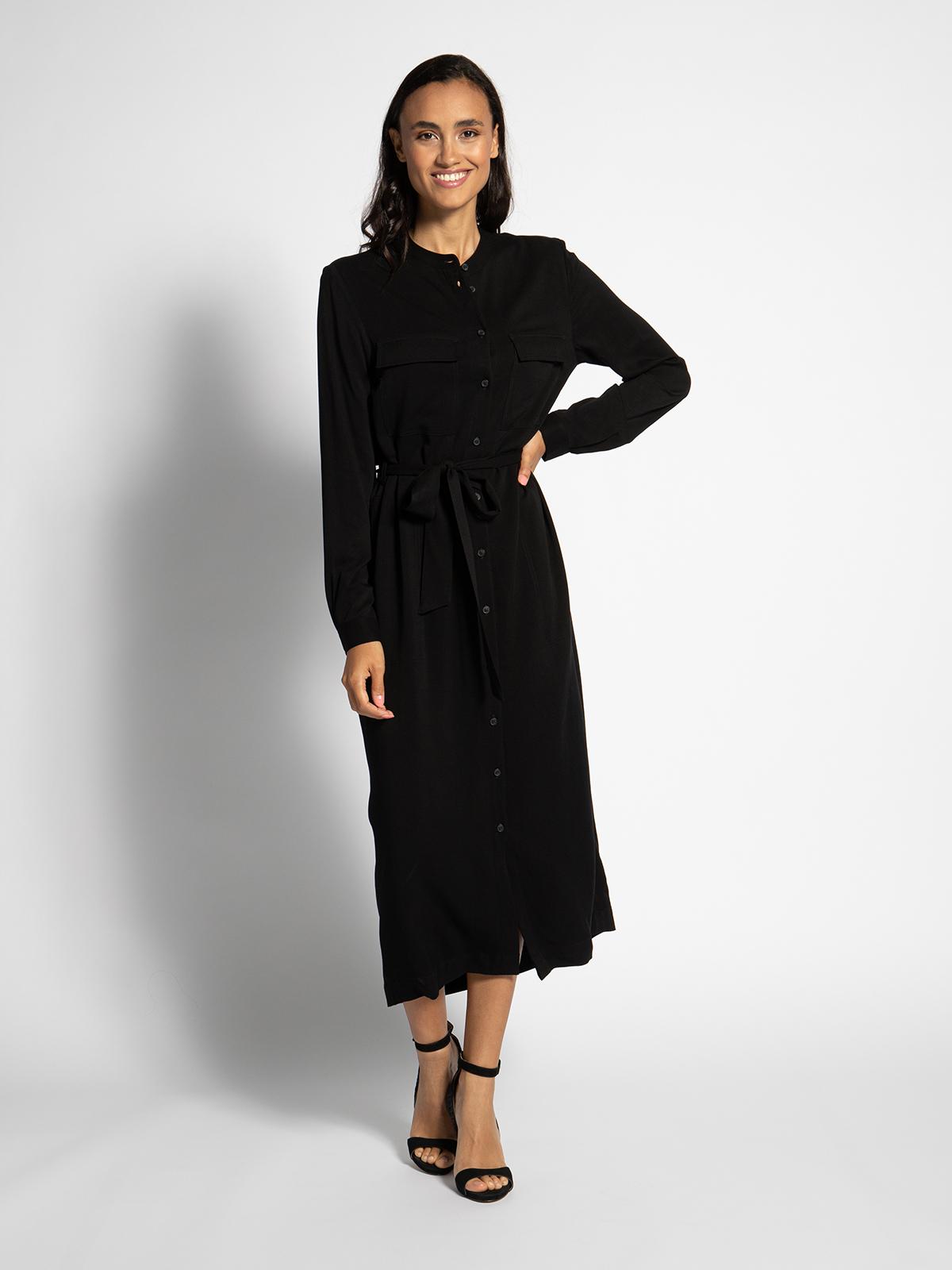armedangels Maxikleid in schwarz für Damen, Größe: M