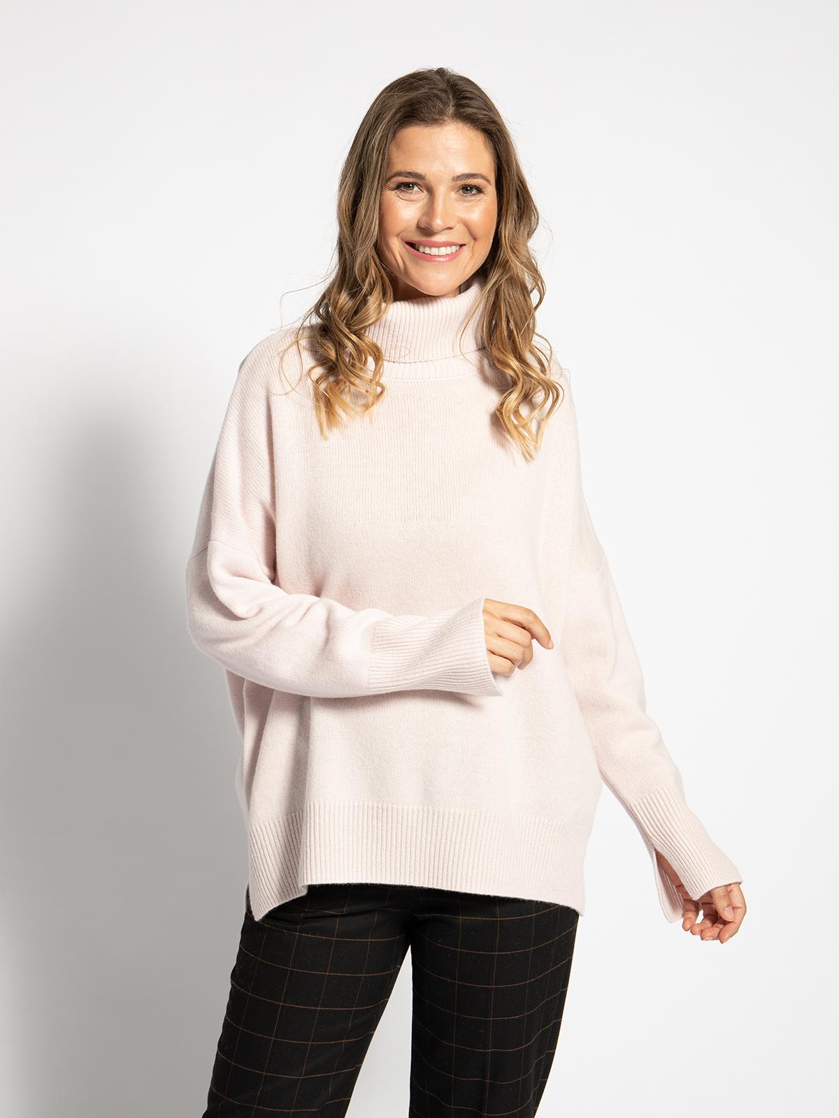Ashbourn Rollkragenpullover mit Kaschmiranteil in rosa für Damen, Größe: XS
