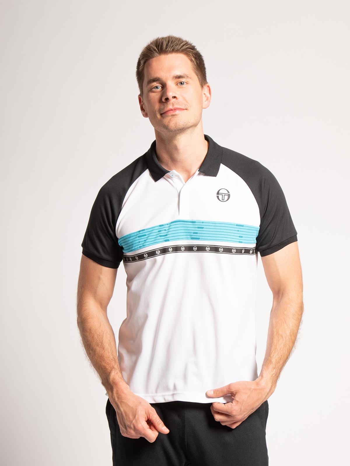 Sergio Tacchini Poloshirt Regular Fit in weiss für Herren, Größe: XL
