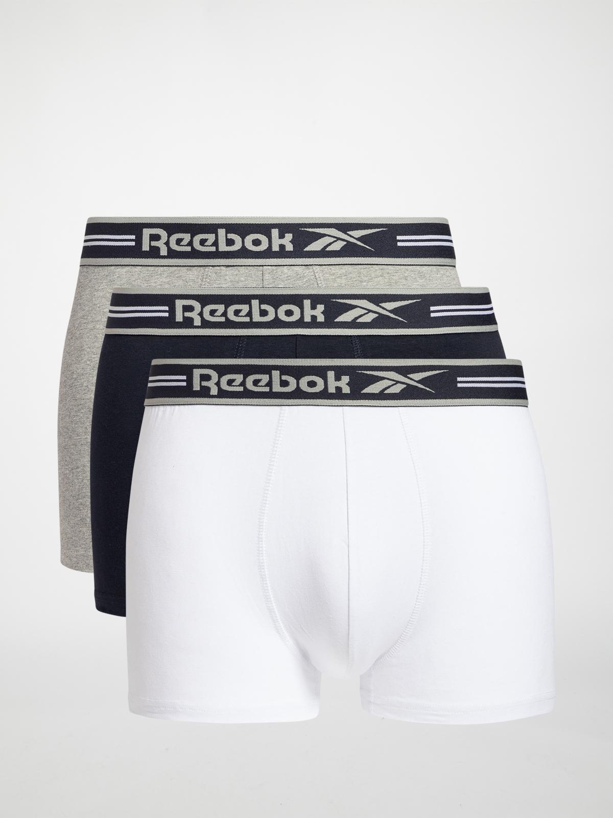 Reebok Boxershorts 3er Set in weiss für Herren, Größe: XL