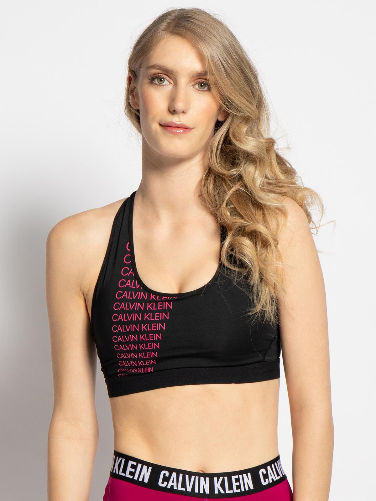 Calvin Klein Sport-BH in schwarz für Damen, Größe: L
