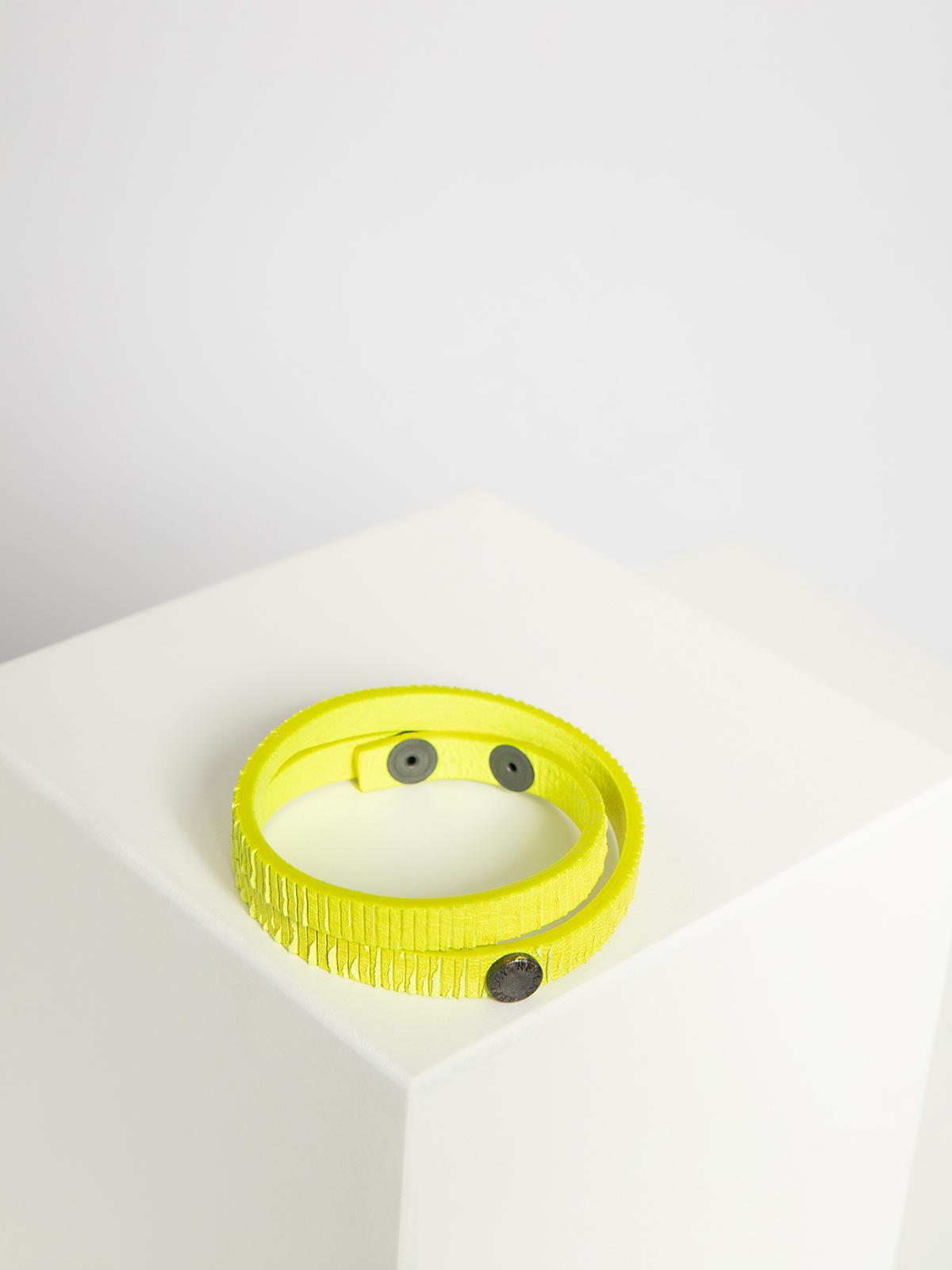 Replay Leren armband in geel voor Dames, grootte: