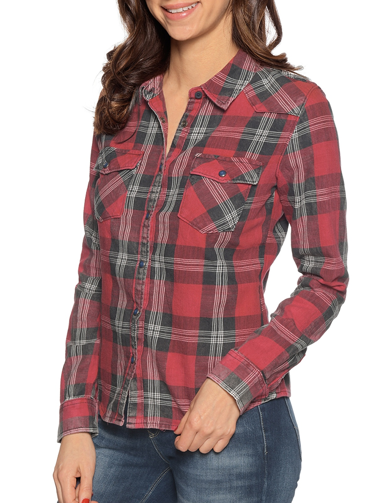 LTB Blouse in rood voor Dames
